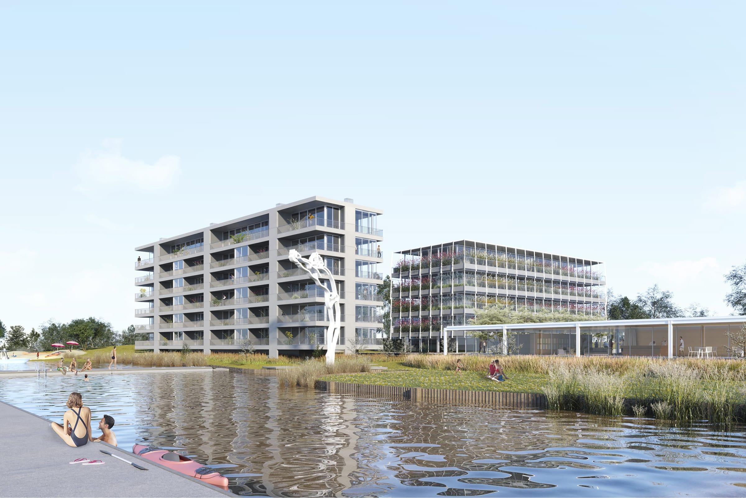 El edificio Residencias del Lago es un proyecto de Adamo-Faiden que se encuentra en la etapa previa a ser inaugurado.